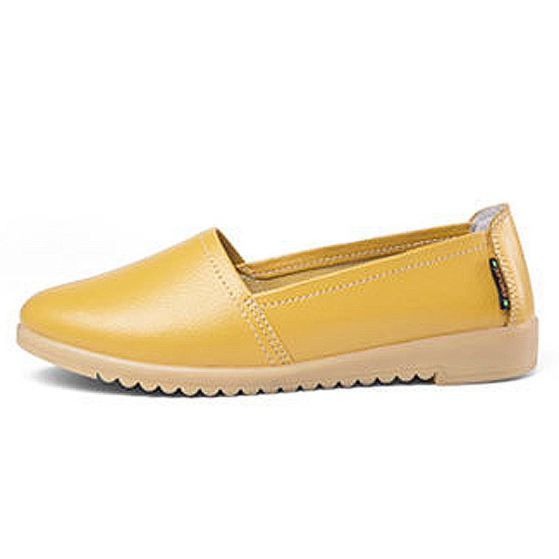 Conduite Slip Noir blanc Cuir Wsh2888 jaune orange Automne Beckywalk Ballet En Mocassins Chaussures bleu Appartements Femmes Femme On Bateau Casual Bout Pointu 1RTqS8Y