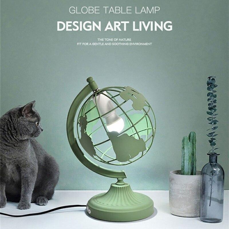 Lampe de Table moderne Led lampe de bureau terre colorée pour chambre chevet décor à la maison créative lampe globale enfants cadeau veilleuse