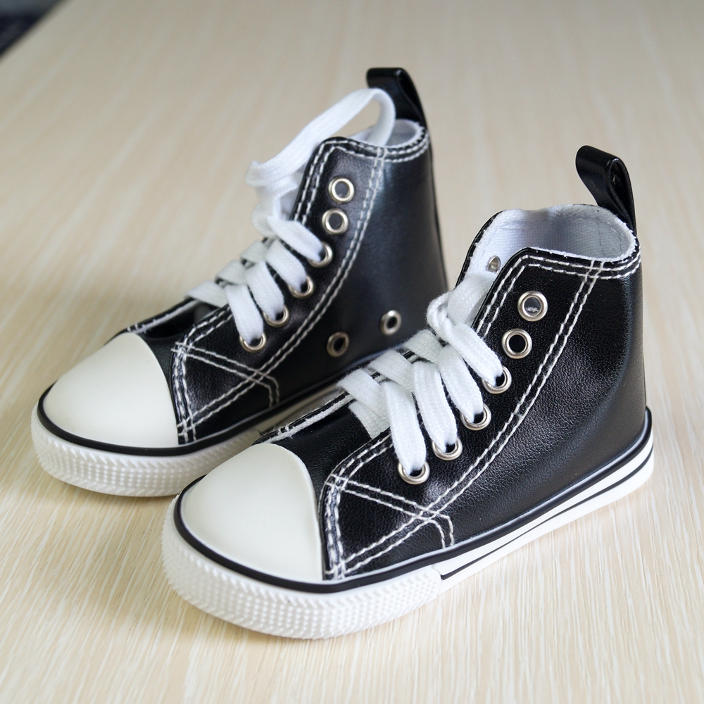 <font><b>BJD</b></font> <font><b>SHOES</b></font> Black Sneakers Canvas <font><b>Shoes</b></font> Sports Flats For 1/3 SD17 SD <font><b>BJD</b></font> <font><b>doll</b></font> DK DZ AOD DD <font><b>Doll</b></font> FREE SHIPPING image