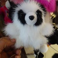 Key Chains 2016 New Imported Mink Fur Panda Penguin High grade Small Monster Rabbit Hair Ball Bag Pendant