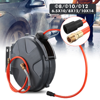 1Set 8/10/12mm Automotive air hose reel 10M Automatic Plumbing Hoses Professional for garden for Car