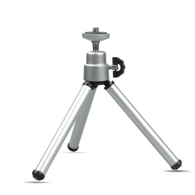 Kaliou Silver Color Camera Phone Professional Mini Tripod Travel Stand Holder for Gopro 7 6 5 4 3+ 2 1 Mobile Phone iPhone Samsu