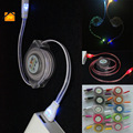 JW 1M Micro Luminous Lighting Retractable USB Phone Charger Cable for Iphone 5 5s 6 6s Plus 7