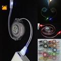 Jw 1 m micro iluminación luminosa teléfono usb retráctil cargador cable para iphone 5 5s 6 6 s plus 7