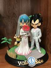 Anime Dragon Ball Z Vegeta & Bulma Figura Modelo Brinquedos Do Dia Do Casamento(China)