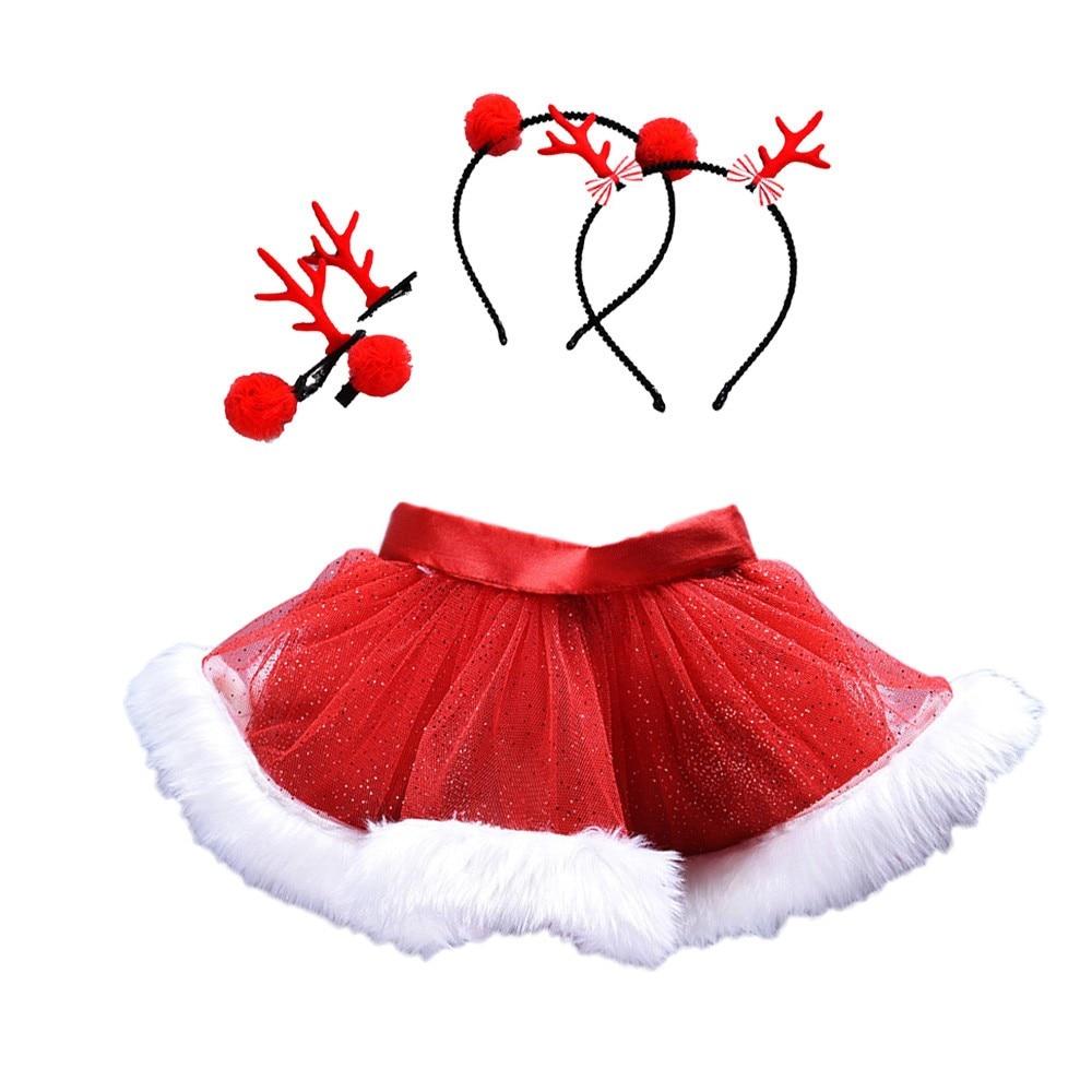 Christmas pettiskirt tutu skirts Baby Girls Kids Christmas Tutu Ballet Skirts Fancy Party Skirt+Hair Hoop Set tutus para ni as цена