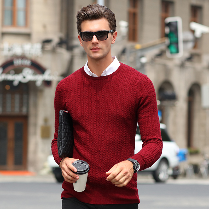 2017 Fashion Brand Clothing Men Sweater Simple O Neck Slim Fit Casual Pullover Men Sweaters