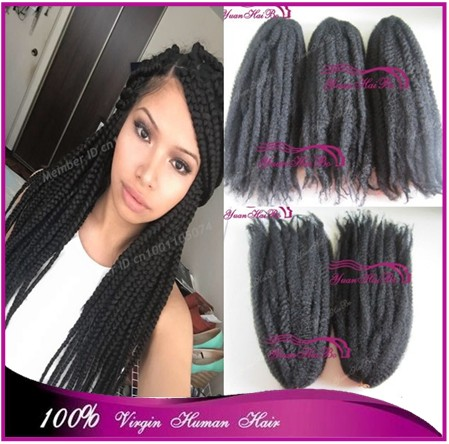 20inch Black Synthetic Marley Twists Kanekalon Hair Kinky Twist Marley Braiding For Black Women