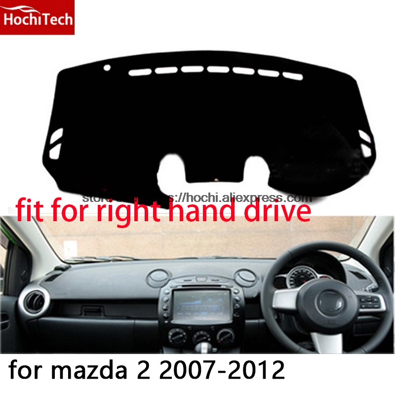 For mazda 2 2007-2012 right hand drive dashboard mat Protective pad black Red car-styling Interior Refit sticker Mat products 525a all iin 1 usb 2 0 3 0 5 25 computer cd rom drive media dashboard black