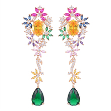 Siscathy Trendy Long Water Drop Dangle Earrings for Women Charms Dubai Engagement Wedding 2019 New Fashion Jewelry