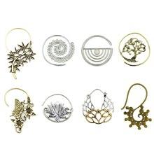 Charming Tribal Indian Spiral Drop Earrings