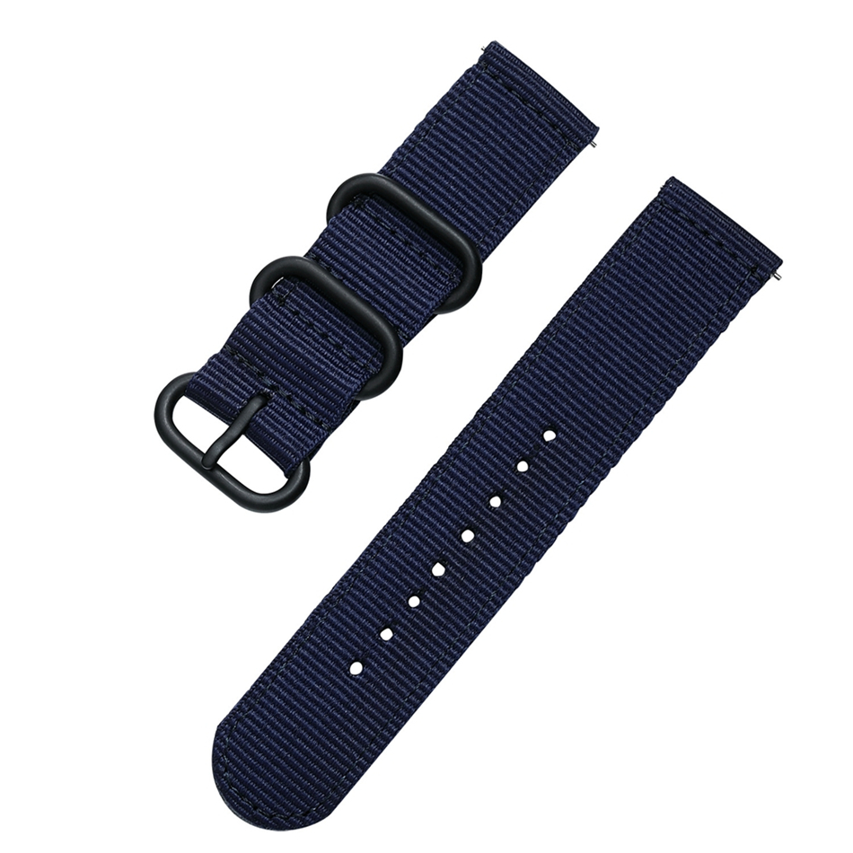 Canvas Nylon Wristband Strap For Xiaomi Amazfit Stratos 2 Pace Straps For Amazfit Bip Watch band For Samsung Gear S3 S2 Bracelet11