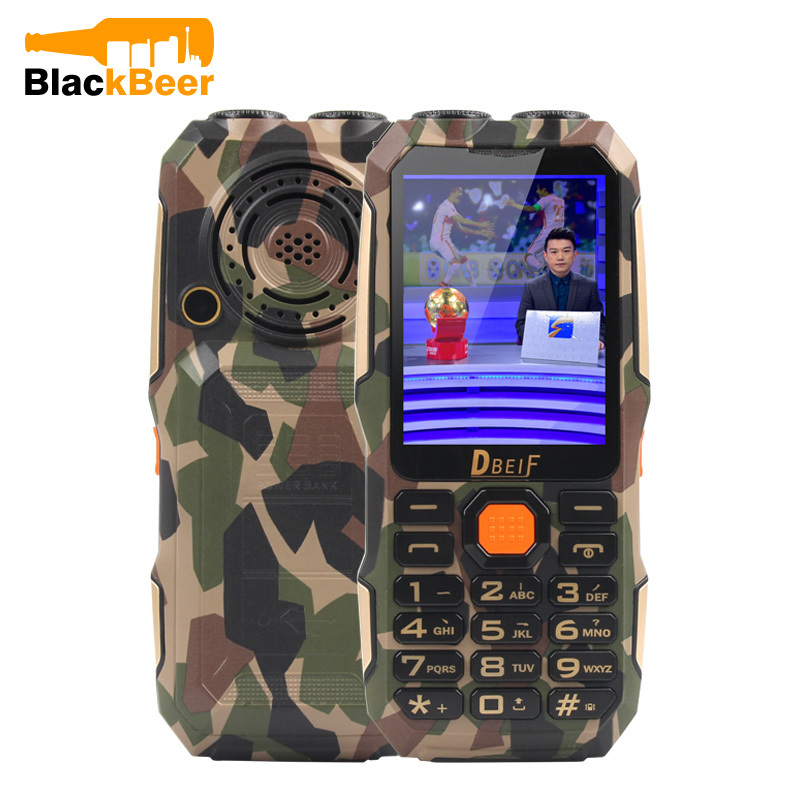 Uniwa DBEIF D2016 Old Man Mobile Phone Big Magic Voice Russian Keyboard Button Dual Flashlight Power Bank TV Outdoor Cellphone
