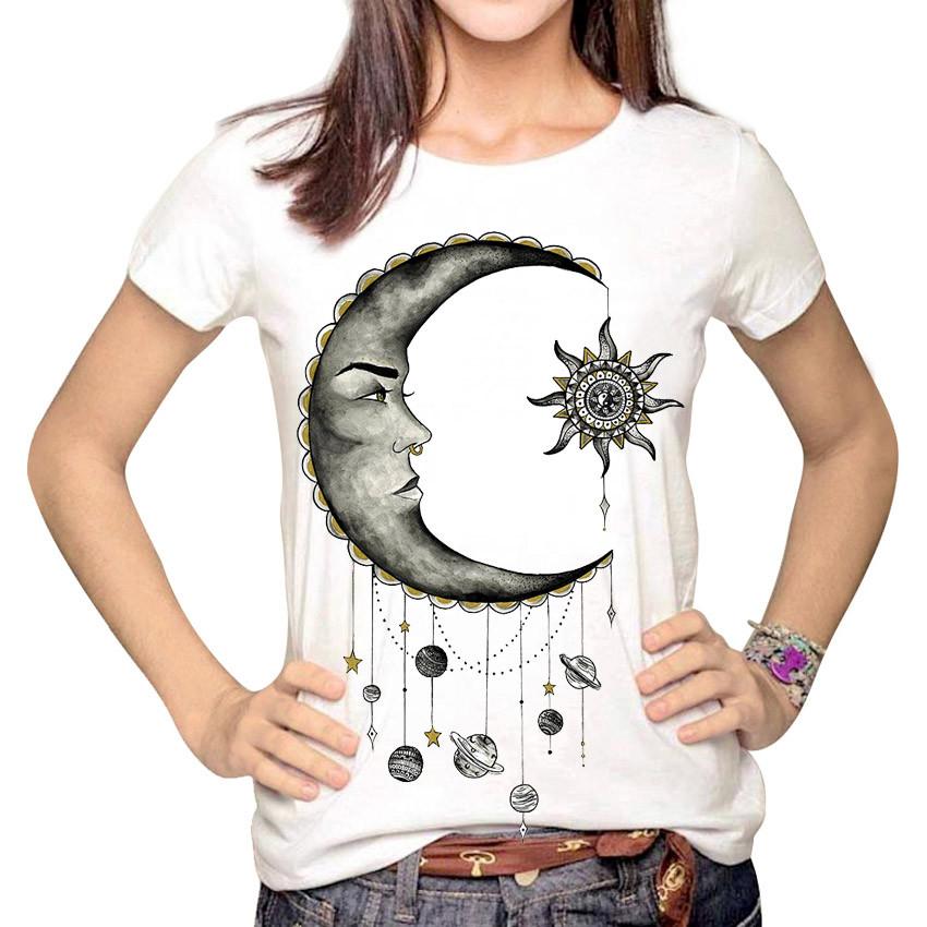 HTB1YDK.LpXXXXbNapXXq6xXFXXXO - Women Fashion Hipster Sun and Moon Cartoon Printed Tops