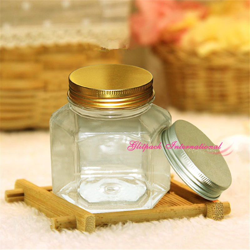 60pcs per carton wholesale empty pet plastic honey bottles 350ml