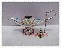 12 5cm Long Flower Painting Lamp White Mix Color Pot 2PCS Russian Tea Pot Al Addin