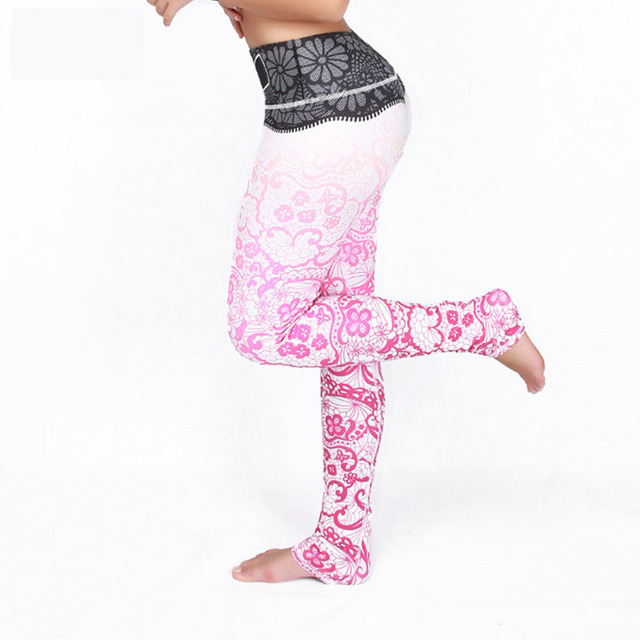 Women Fitness Pants High Elastic Comfortable 3D Printing Leggings Summer Style Slim Quick Dry Sporting Women Pants 2016 Hot Sale