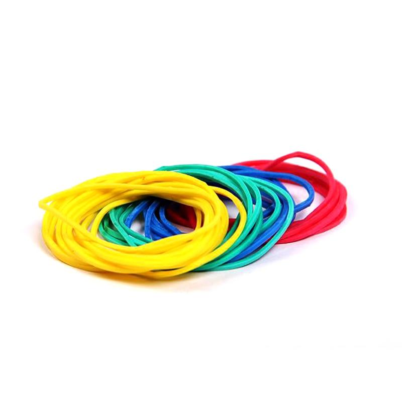 100pcs Elastic Assorted Braiding Bands Magic Trick Elastic Rubber Band Multicolor Magicprop Color Rubber Band Tricks Accessories