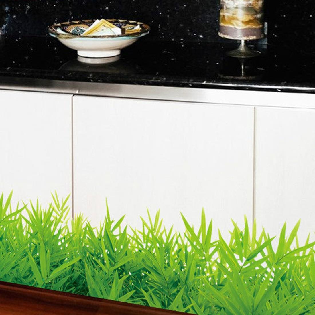 Nizza Baseboard Grüne gras wasserdicht DIY Abnehmbare Art Vinyl ...