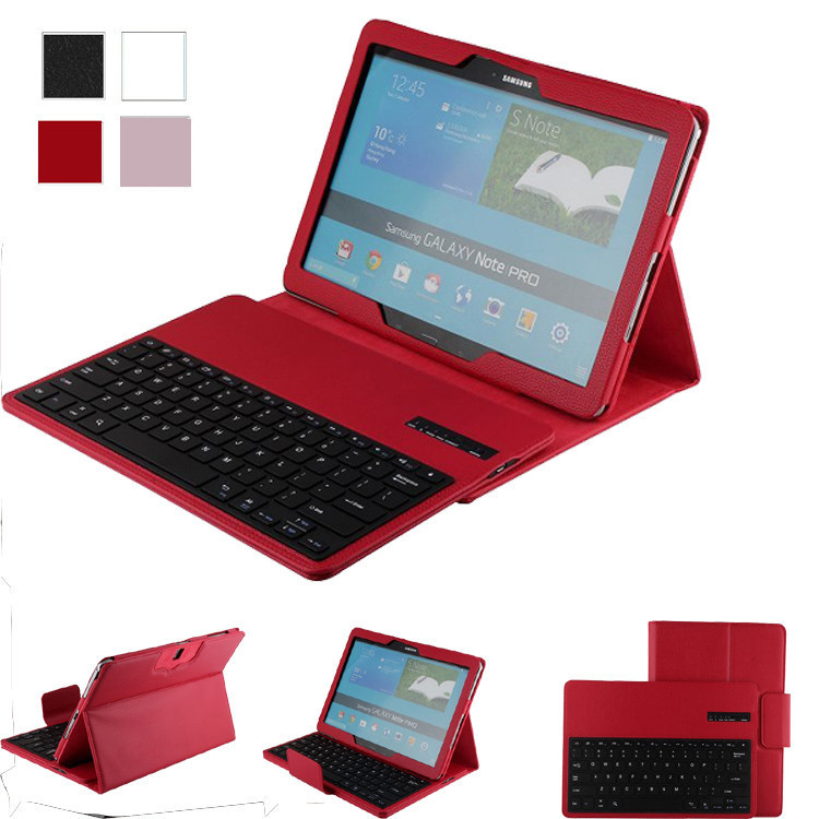 For Samsung Galaxy Note Pro & Tab Pro 12.2 SM P900 P900 P905 Bluetooth Keyboard Cover Case Color