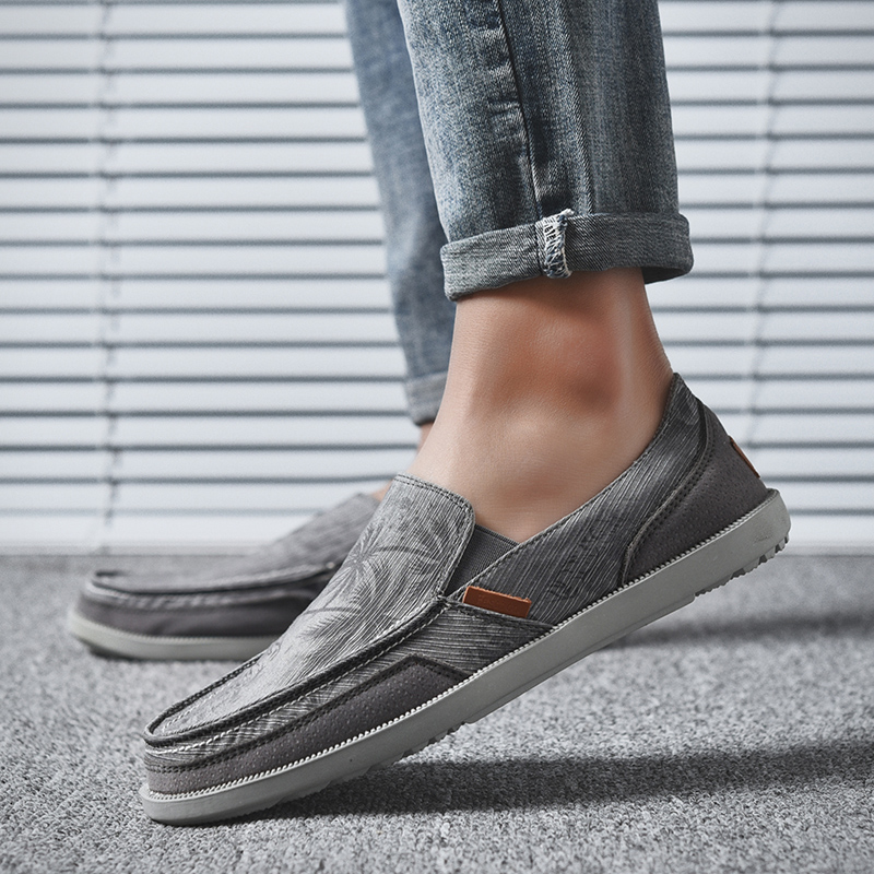 Mens Canvas Shoes Vintage Breathable Slip on Loafers Outdoor Walking Casual Shoes Summer Soft Flat Driving Shoes Sorrynam in Men 39 s Casual Shoes from Shoes