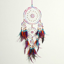 Dream Catcher With Gift Box Five Ring Handicraft Chime Gift Wall decor Ornamentation Dream catcher