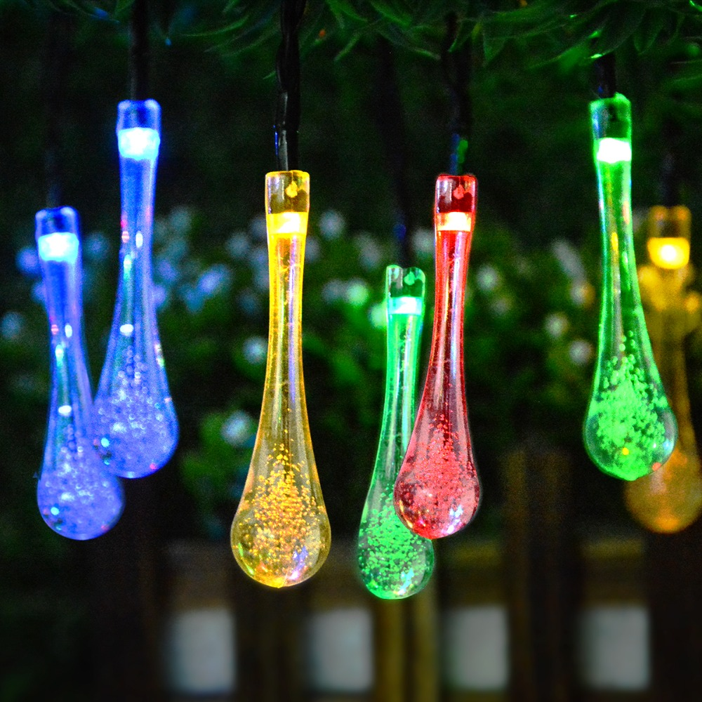 Us 7 77 33 Off Solar Lamp Fairy Garden Lighting Garland Crystal Ball Flower Outdoor Waterproof Decorative Lawn In
