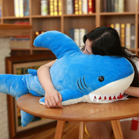 Babiqu New Style Huge Shark Plush Toys Big Fish Cloth Doll Pillow Whale Stuffed Animals Toy for Children Creative Birthday Gift