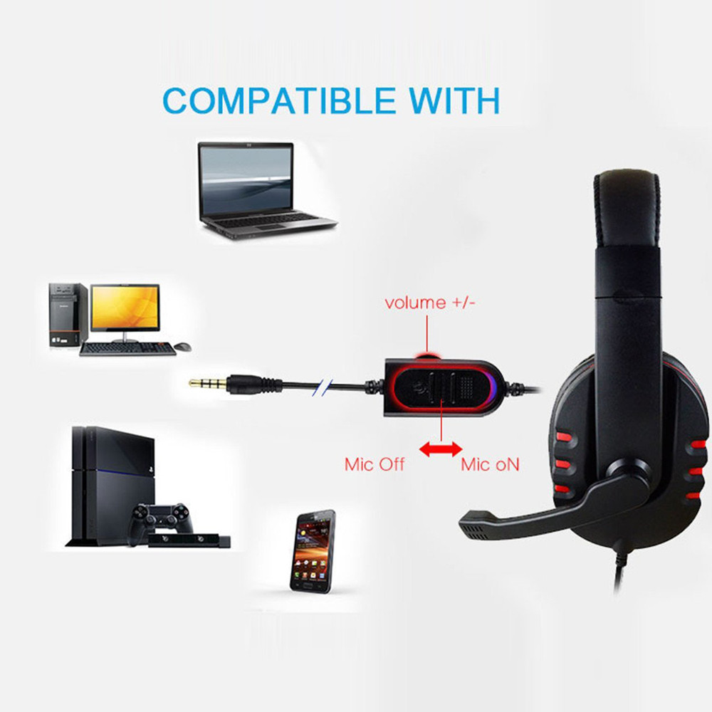 Wholesale Gaming Headset Voice Control Comfortable Wearing Wired HI-FI Sound Quality Headphone For PS4 PC #ET1