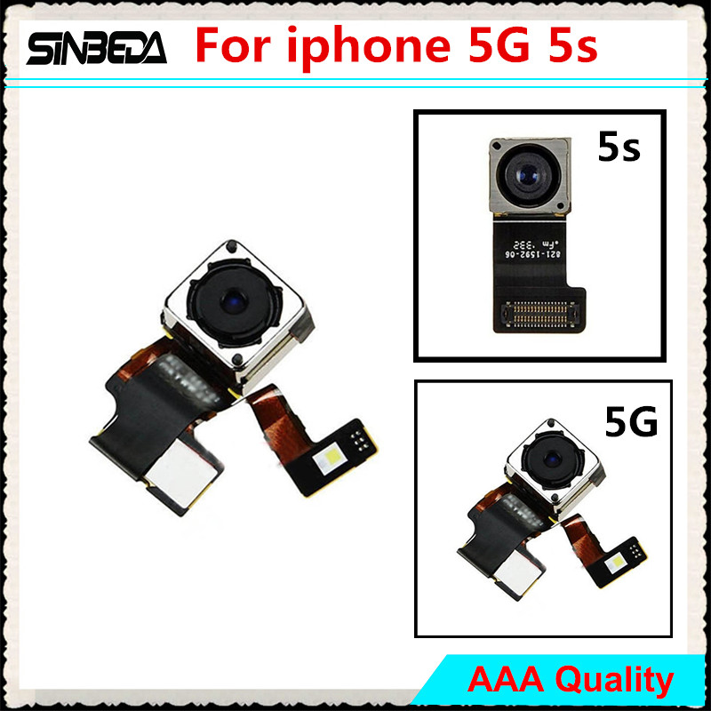 Sinbeda 100% Guarantee Quality Replacement Back Camera Rear Facing Camera For iPhone 5 5G 5S Main Camera Flex Cable image