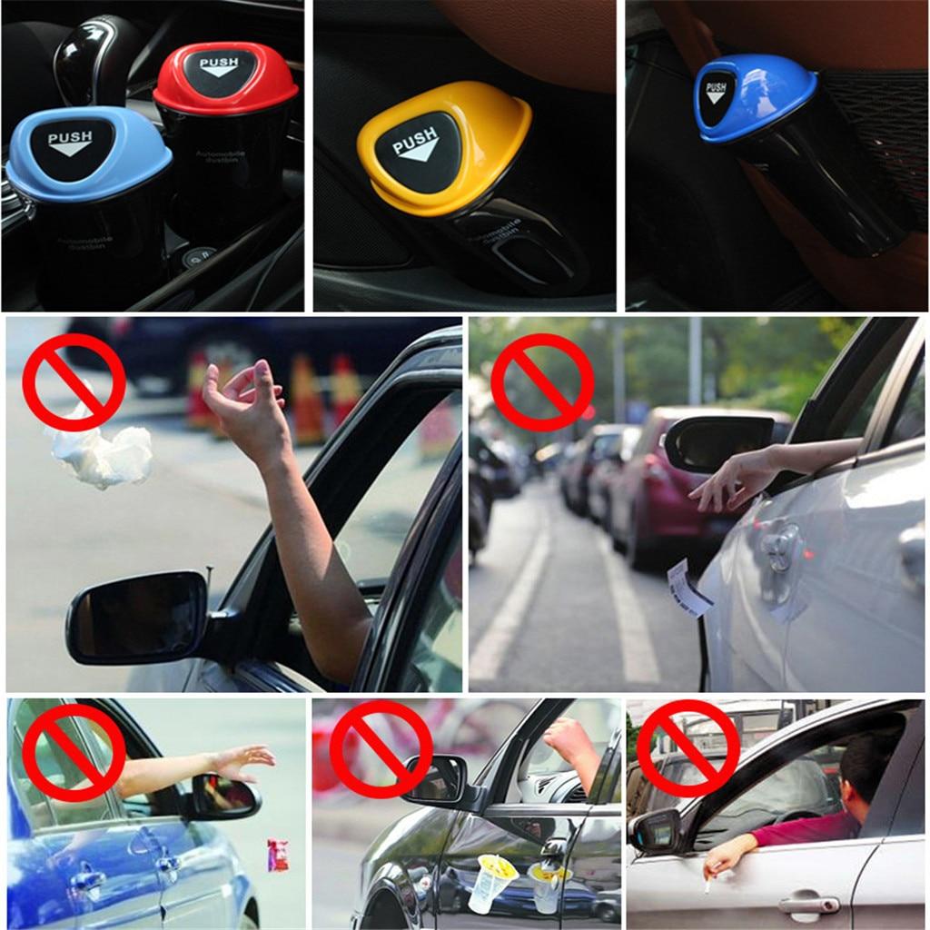Mini Auto Car Dustbin Rubbish Trash Can Garbage Box Case Holder Bin Storage Fast