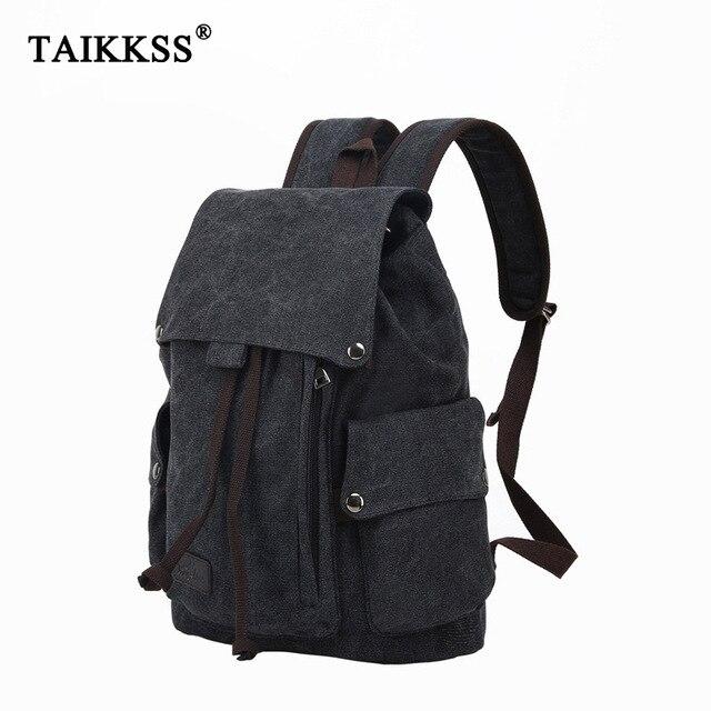 حقيبة ظهر للكمبيوتر المحمول للرجال عالية الجودة من القماش حقائب مدرسية للمراهقين حقيبة ظهر للسفر ذات سعة كبيرة حقائب نهارية