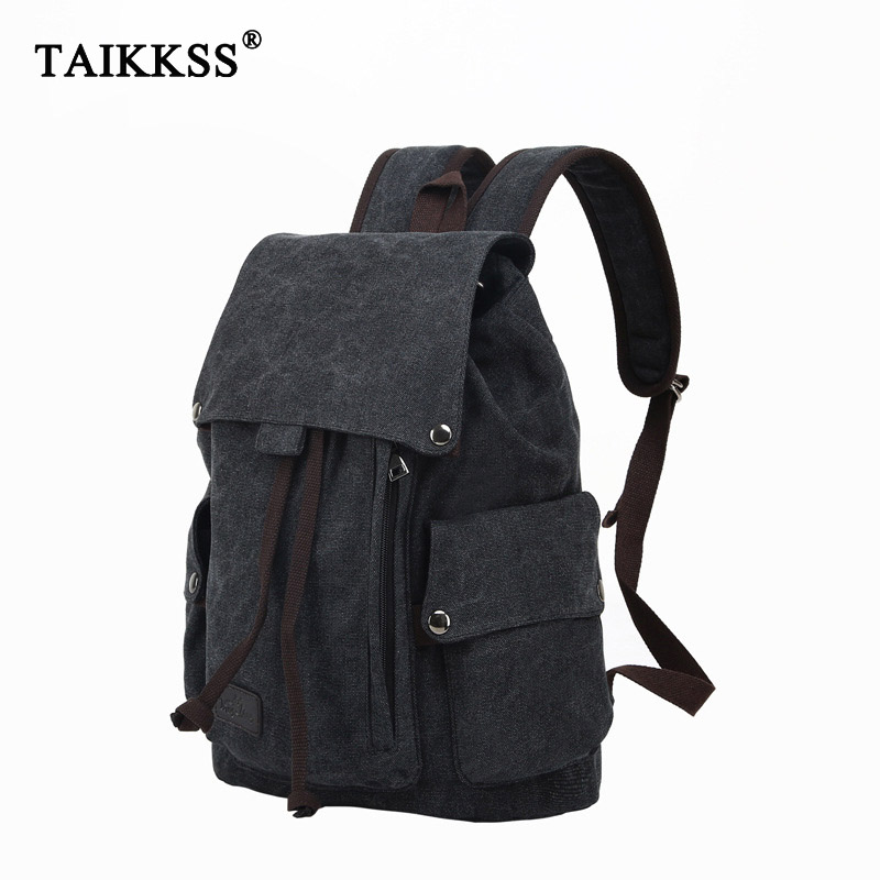 Men's Laptop Computer Backpack High Quality Canvas Backpacks Teenage School Bag Fashion Travel Backpack Large Capacity Daypacks