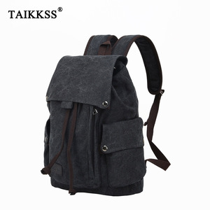Image 1 - Mens Laptop Computer Backpack High quality Canvas Backpacks Teenage School Bag Fashion Travel Backpack Large Capacity Daypacks