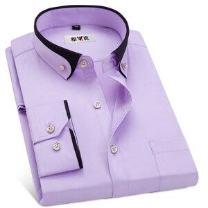 Image 4 - MACROSEA vestido de negocios para hombre, camisa Formal con cuello abotonado, informal, para primavera y otoño