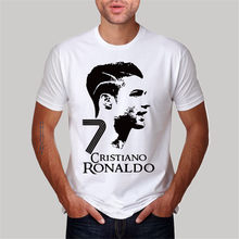 dd1ad8fe4 hot sale fashion o-neck t-shirt Cristiano Ronaldo men s T-shirt luxury  brand cool short sleeve big size