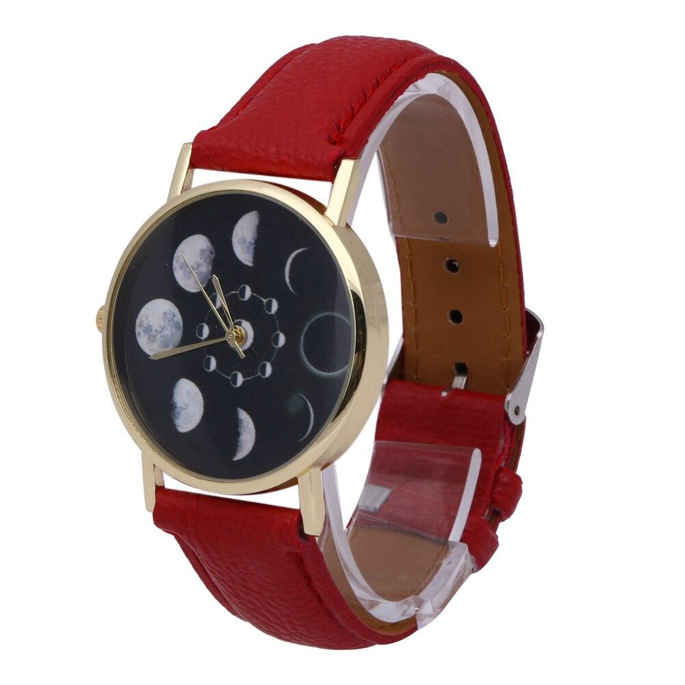 2018 Fashion Moon Phase Lunar Eclipse Women Watches Leather Bracelet Dress Watch Women Solar Watch reloj mujer montre femme saat