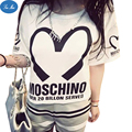 Sea mao 201 New Short-Sleeve Women T Shirt Love Letter Printing Summer Student Harajuku bf Loose Casual t shirt for Women