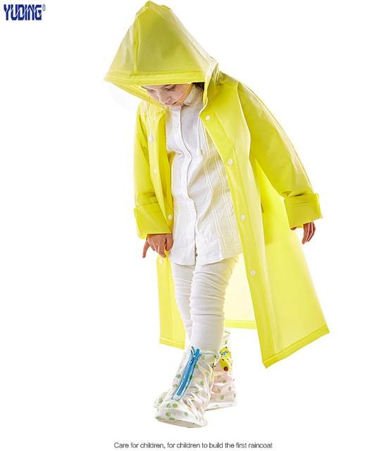Yuding Kids Raincoat EVA Tastless Raincoats Practical  Children Rain Coat