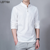 2016 Fashion Long Sleeve Men S Shirts Male Casual Linen Shirt Men DX366 Asian Size Camisas