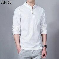 2016 Fashion Long Sleeve Men S Shirts Male Casual Linen Shirt Men DX366 Asian Size Camisas