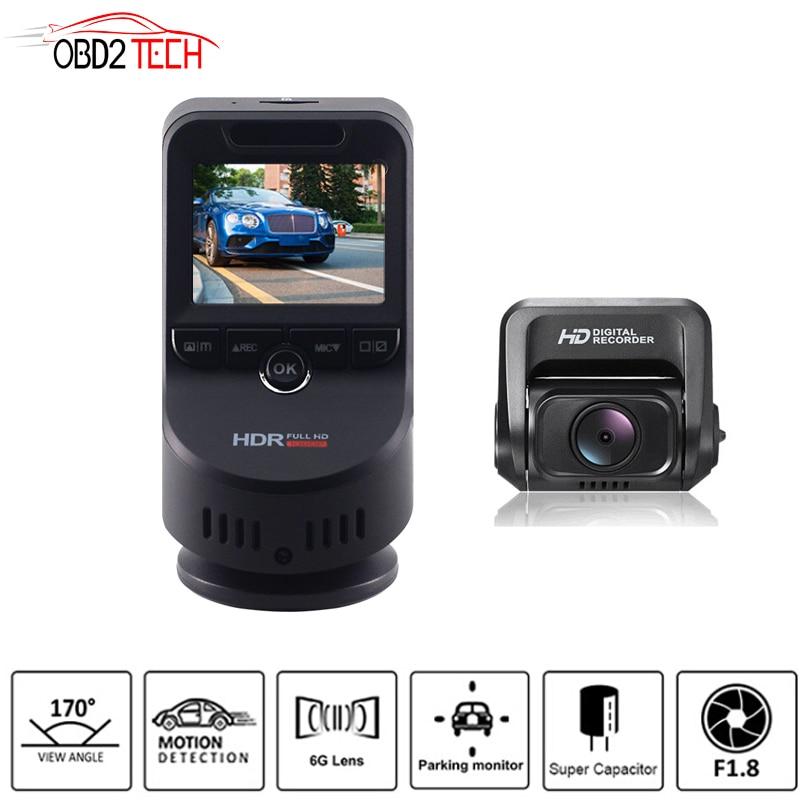 Двойной объектив К 4 к Ultra HD Wi Fi Автомобиль регистраторы T691C 2160 P 60fps ADAS DVR с P 1080 sony сенсор сзади камера ночное видение gps
