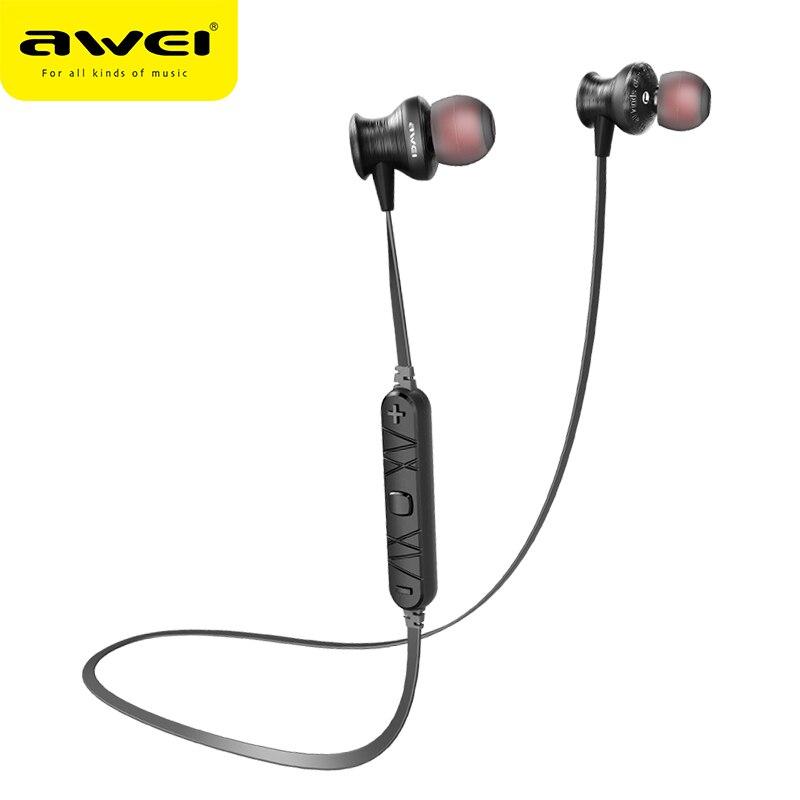 Awei A980BL Bluetooth Trasduttore Auricolare Delle Cuffie Con Microfono Sport Neckband Wilreless Auricolare Auricolari Per Xiaomi Huawei iPhone