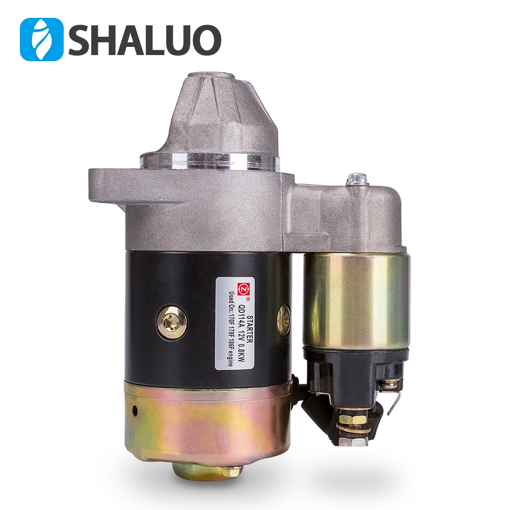 Engine diesel Generator Motor Starter QD114A 12V 0.8KW Copper Made used on 170F 178F 186F Engine starter motor parts DHL free square solenoid switch electric relay diesel engine parts 170f 173f 178f 186f 186fa starting motor relay electromagnetic switch