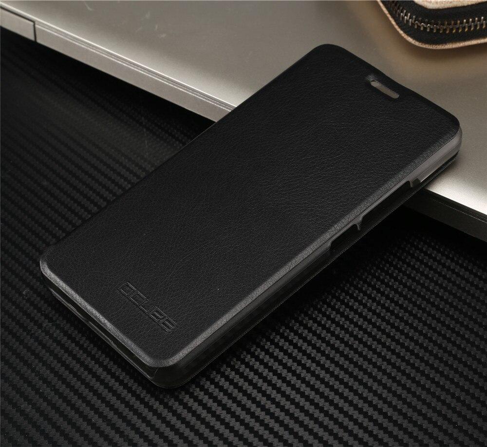 Oukitel k6000 plus case luxus pu leder flip abdeckung mit ständer halter rückseite original design
