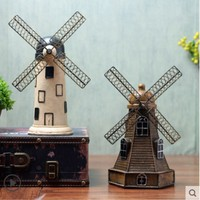 Ornaments Vintage Windmill model Craft ornaments Cafe living room TV cabinet wine cooler Decorations Creative furnishings
