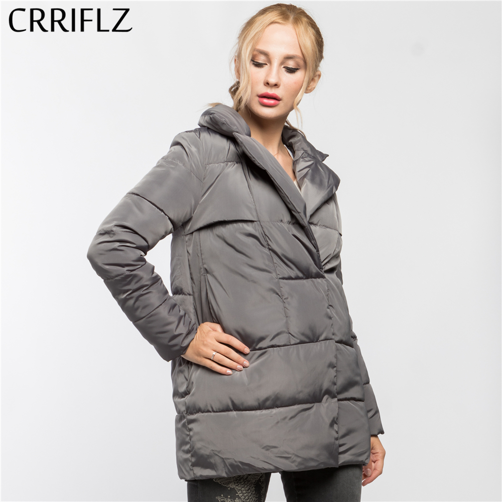 Winter Clearance Fashionable Slim Thick Warm Winter Jacket Women Turn-down Collar Coat Down   Parkas   Female Outerwear CRRIFLZ 2019