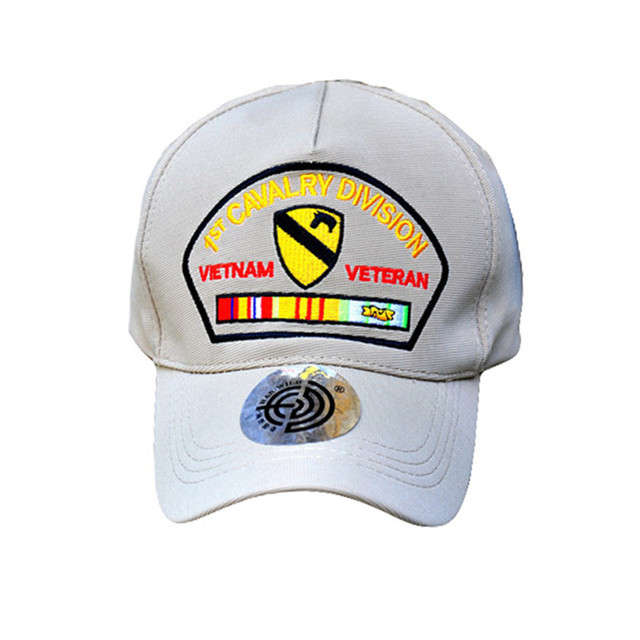 062f4e7128f Women Summer out door baseball Golf sun Breathable cap 1st CAVALRY DIVISION  VETNAM cap for Hunting Camping brim Visor hat