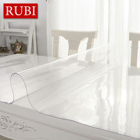 RUBI Transparency PVC Waterproof Table Cloth Party Wedding 60x120cm Home Kitchen Dining Placemat Pad Thickness1 0mm