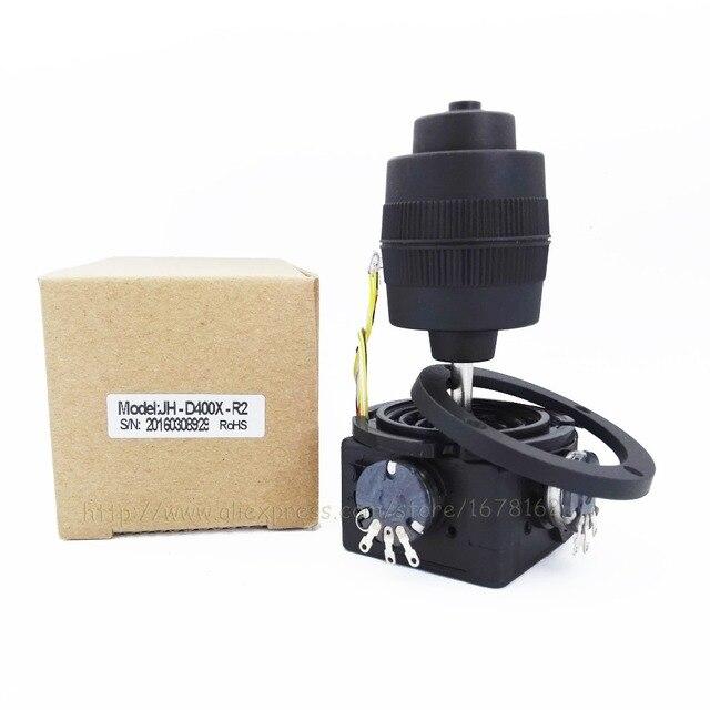 1pcs 4-axis potentiometer Joystick JH-D400X-R2 400 series Rocker hall dimensional resistance 5K sealed with button joystick